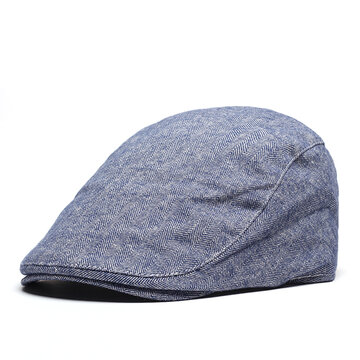 Mens Breathable Visor Beret Caps