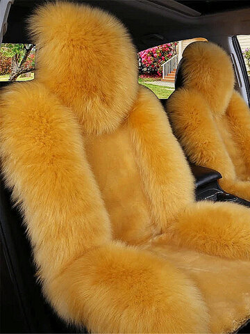 Universal Plush Warm Car Front Seat Cover