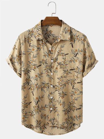 Vintage Plant Printed Shirts