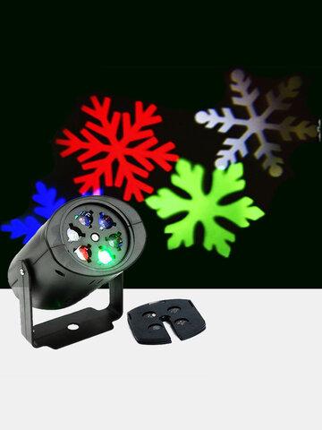 Weihnachten Schneeflocke Projektor Lichter rotierend LED Bühnenlicht Outdoor Wasserdichte Landschaft Licht Party Dekor