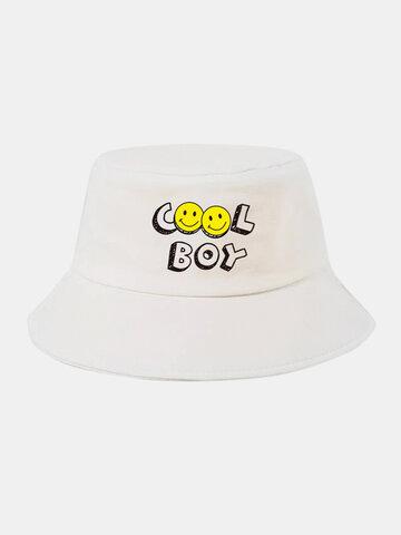 قبعة دلو وجه ابتسامة للجنسين