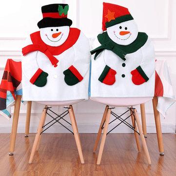 Christmas Snowman Chair Back Cover