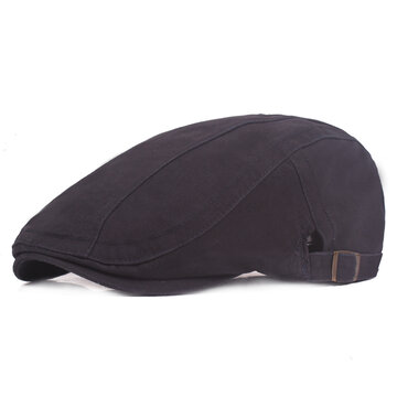 Mens Adjustable Cotton Beret Hat