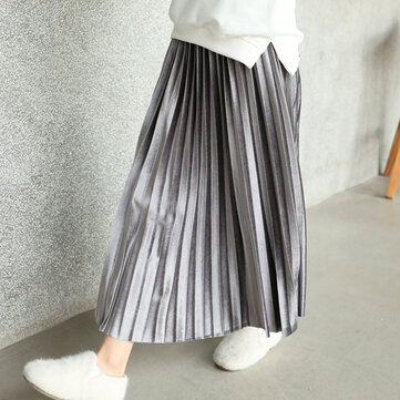 Girl Long Pleated Skirt For 3-13Y
