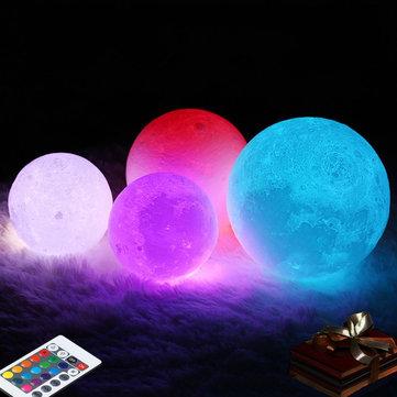 Lámpara de luna 3D 16 cambio de color