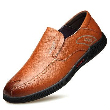 Chaussures de cuir décontractées pour hommes