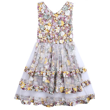 Flower Girls Casual Princess Dress 4Y-15Y