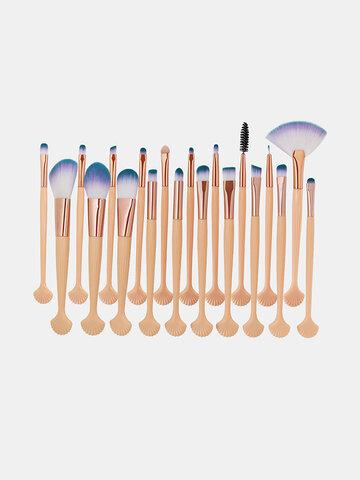 20 Pcs Shell Makeup Brushes