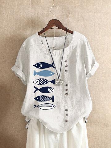 T-shirt da cópia dos peixes dos desenhos animados