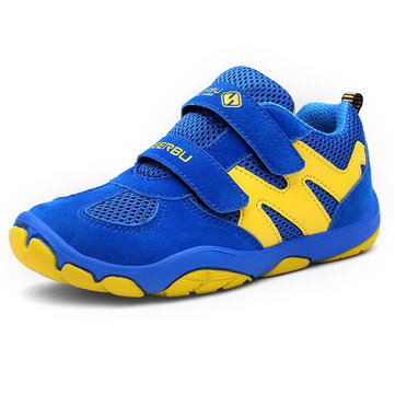 Boys Breathable Colorful Hook Loop Shoes