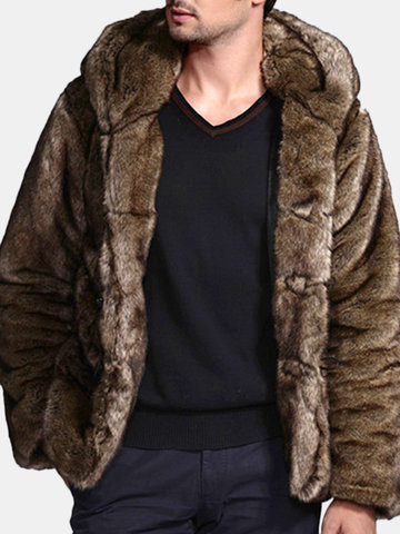 Men Faux Fur Coat