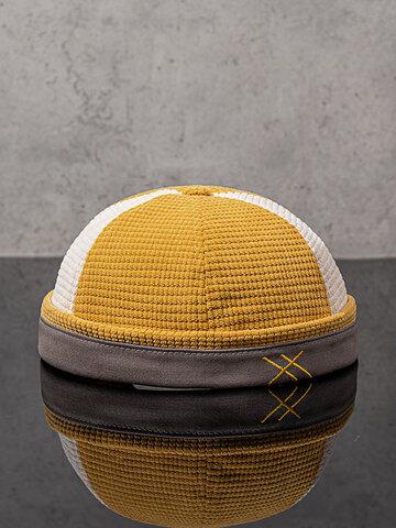 Cappellino con teschio patchwork unisex in tinta unita