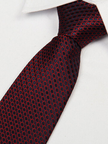 Mens Arrow Type Business Jacquard Dot Pattern Silk Ties