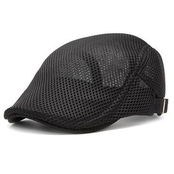 الصيف شبكة قبعة بيريت قابل للتعديل بلون قبعة نيوبوي