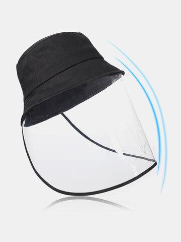 PVC Foldable Protective Mask Caps Anti-Fog Saliva Dust Dropl