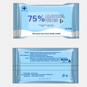 10Pcs Disposable Alcohol Wipes
