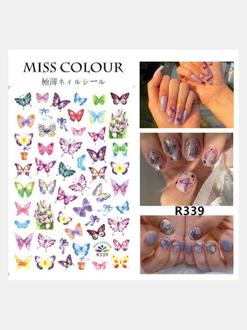 3D Butterfly Nail Stickers