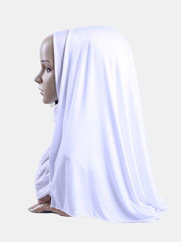 Mercerized Cotton Long Hejab Head Shawls Hijab Amira Islamic