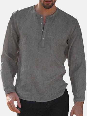 Magliette a maniche lunghe a maniche lunghe casual da uomo