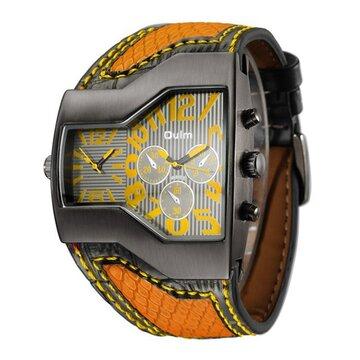 Sport Leather Quartz Wristwatch