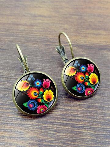 Polish Folk Art Patterns Earrings