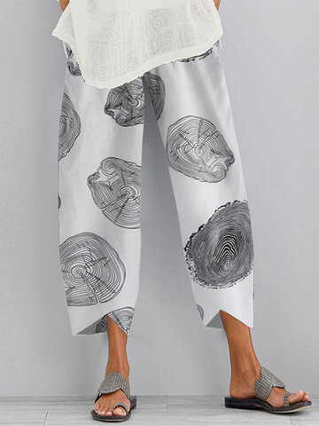 Print Casual Pants