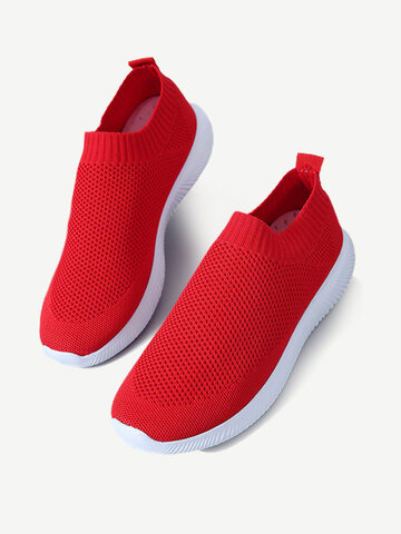 Sneakers Air Mesh Knit Slip On