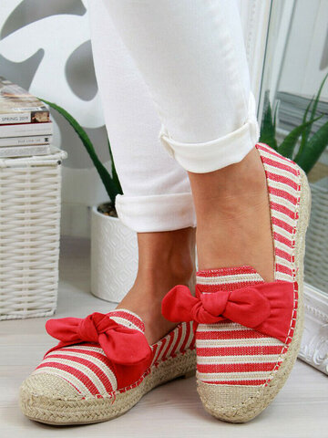 Bow Espadrilles Fisherman Loafers