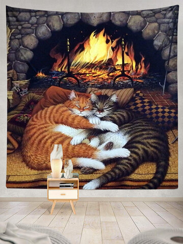 Sleeping Cats Pattern Tapestry Art Home Decoration Living Room Bedroom Decoration