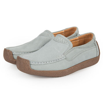 Womens Breathable Suede Lazy Shoes