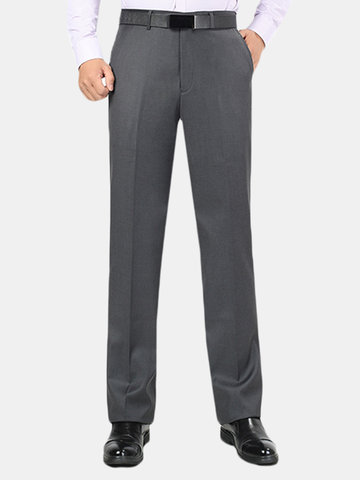 Winter Thicken Straight Business Casaul Suit Pants
