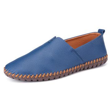 Большие размеры Мужчины Ручные строчки Loafers