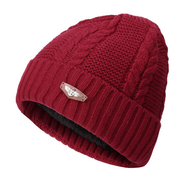 Knitted Solid Stripe Warm Fashion Beanie Cap