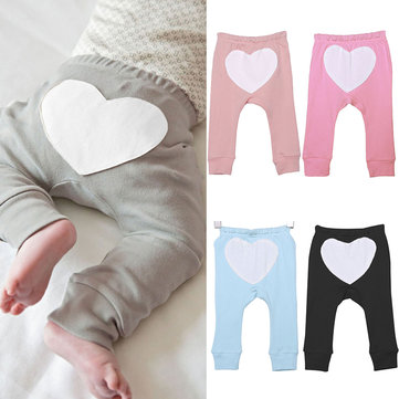 Heart Print Baby Pants For 0-36M