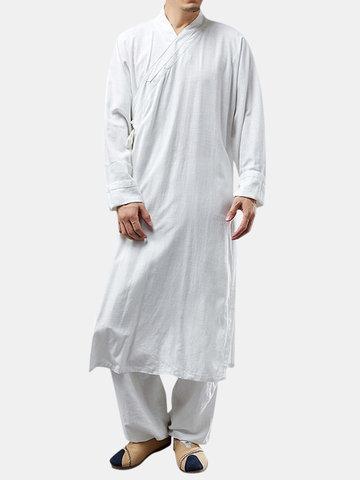 Vestido de Hanfu Chinês Robe Zen Suit
