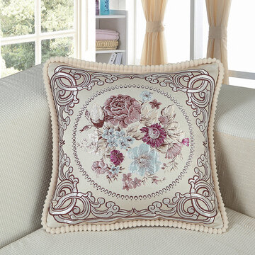 European Classical Style Embroidery Floral Cushion Cover