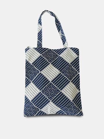 Large Capacity Sea Wave Pattern Tote Handbag