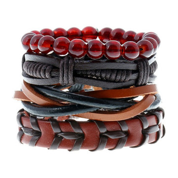 Punk 4PCS Multilayer Armband