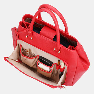 Women Design Solid Handbag