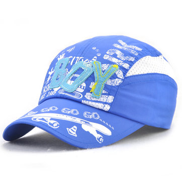 Kids Boys Girls Printing Cotton Letter Embroidery Baseball Hat Outdoor Sports Sunshade Cap