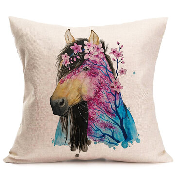 Watercolour Animals Printing Pillow Case Cushion Cover