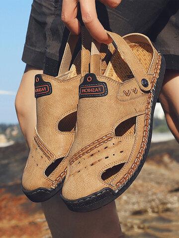Men Two Ways Wearing Sandals