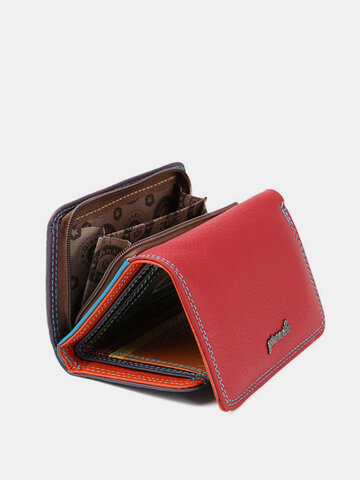 Leather Tri-fold Short Small Wallet