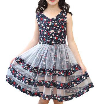 Las niñas de flores Casual Princess Vestido 4Y-15Y
