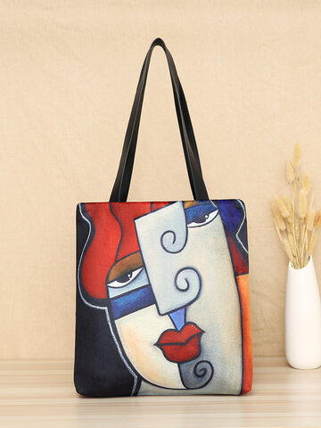 Red Lips Figure Pattern Tote