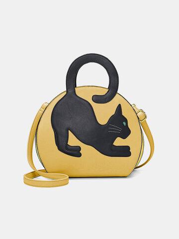 المرأة القط نمط حقيبة يد كبيرة قابلة للتوسيع حقيبة كروس بودي