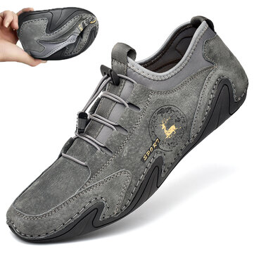 Men Soft Driving Leather Shoes