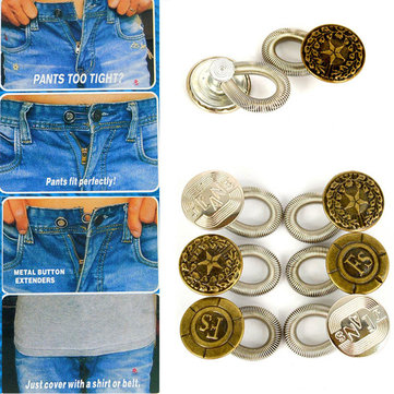 6pc/set Jeans Pants Buttons Fix Expanders