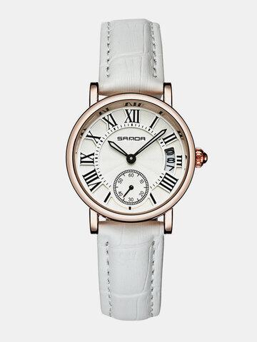 トレンディなクォーツレザー時計
