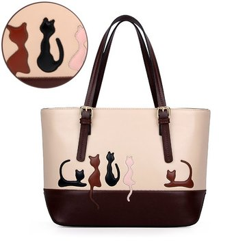 Cute Cat Rabbit Animal Print Sweet Women Handbag Large Capac
